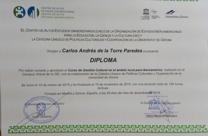 Certificado CAEU