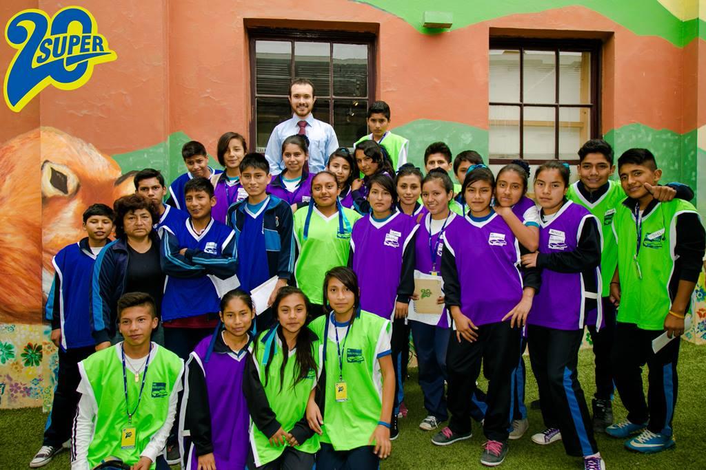 Super 20  con los alumnos